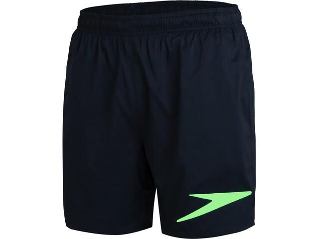"""speedo Sport Logo 16"""" Watershorts Men true navy/zest green"""